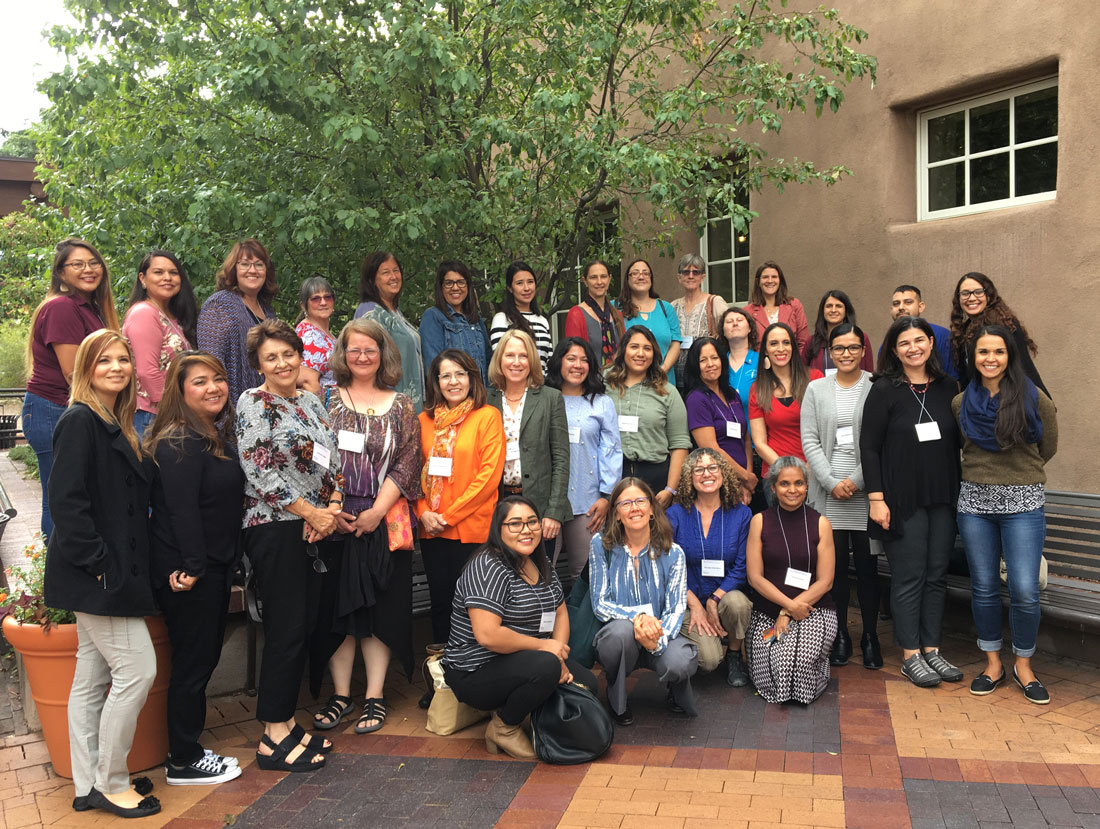 Staff from First Born Programs across New Mexico, gathering for professional development, September 2019 in Santa Fe, NM